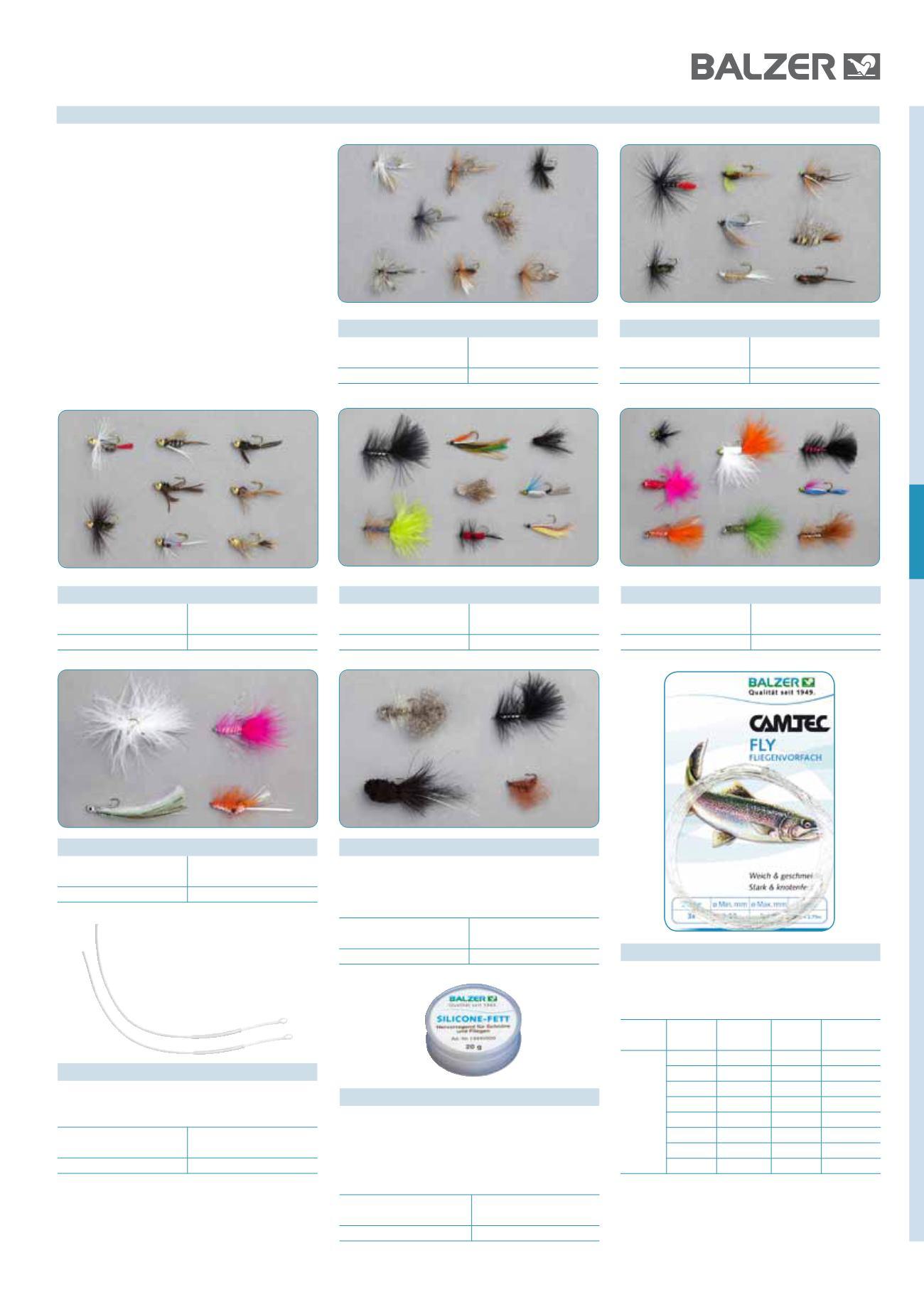 Balzer Camtec Fly Fliegenvorfach verjüngt Vorfach für Trockenfliege