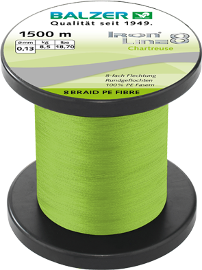 Iron Line 8 Spin chartreuse